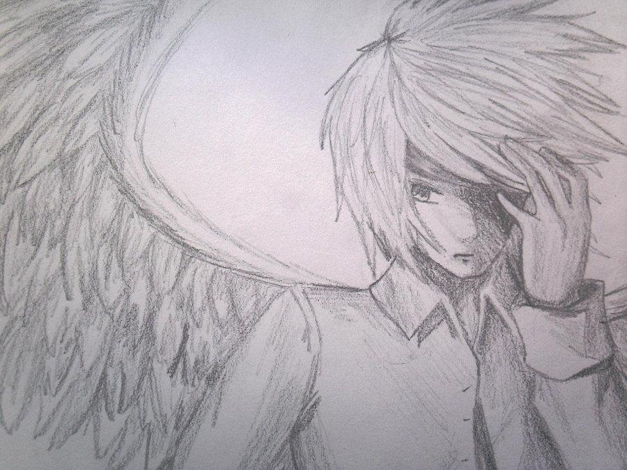 Drawn angel guy DeviantArt Guy by Angel AnimeObsessed24
