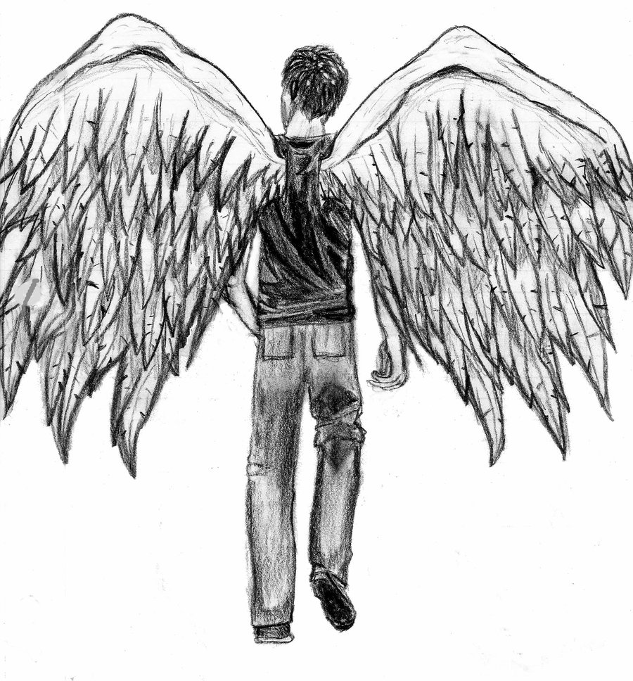 Drawn angel guy Sketch Angel Drawing Man Images