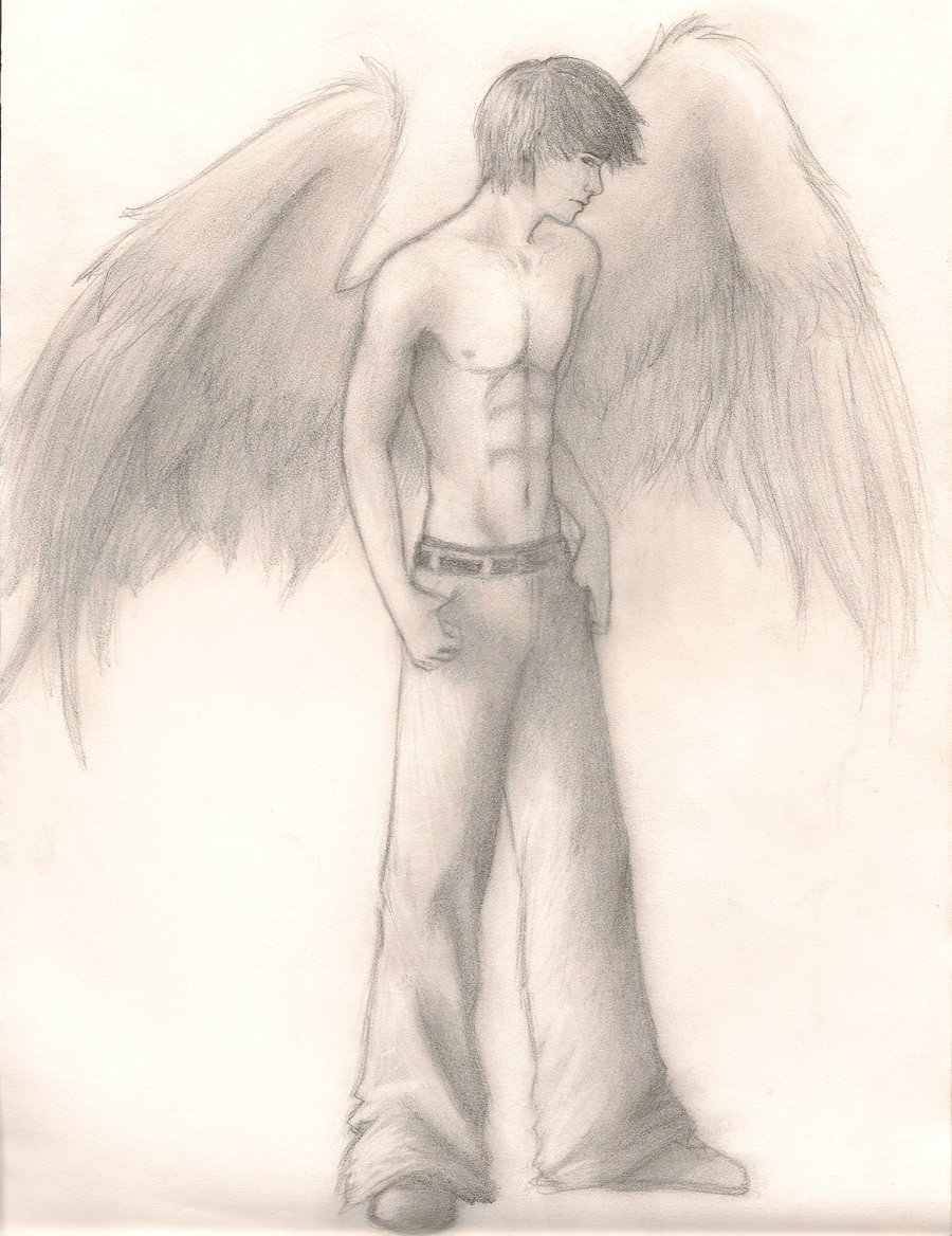 Drawn angel guy Kwonshucutie by kwonshucutie by on
