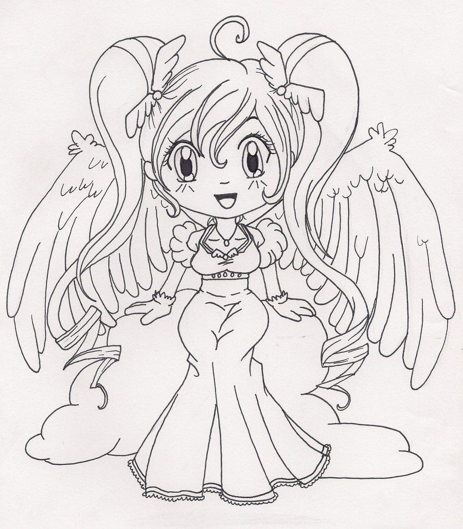 Drawn angel happy #3