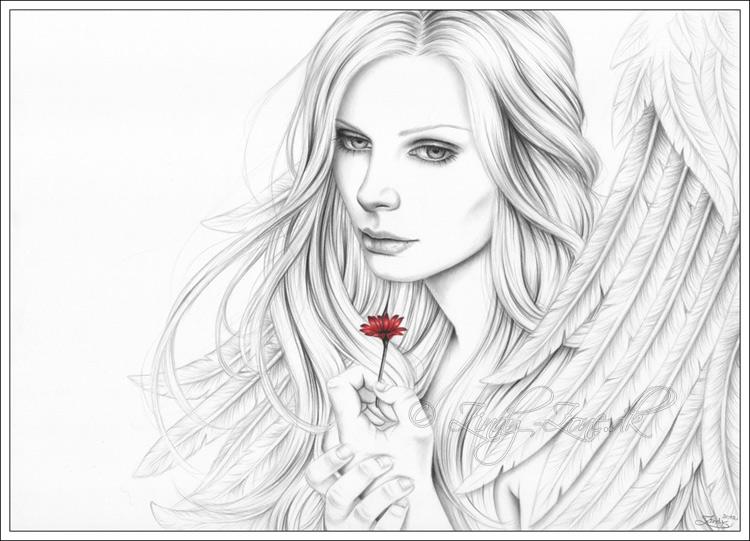 Drawn angel happy #15