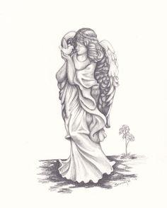 Drawn angel happy #6