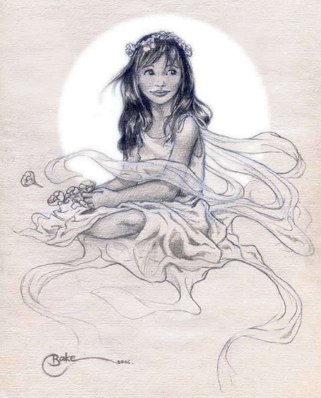 Drawn angel happy #7
