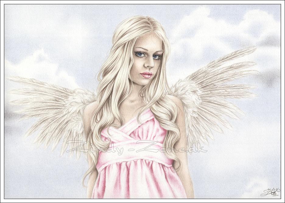 Drawn angel happy #5