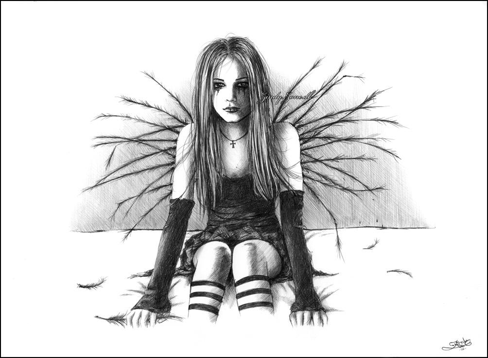 Drawn angel happy #11