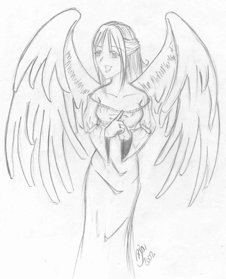 Drawn angel happy #4