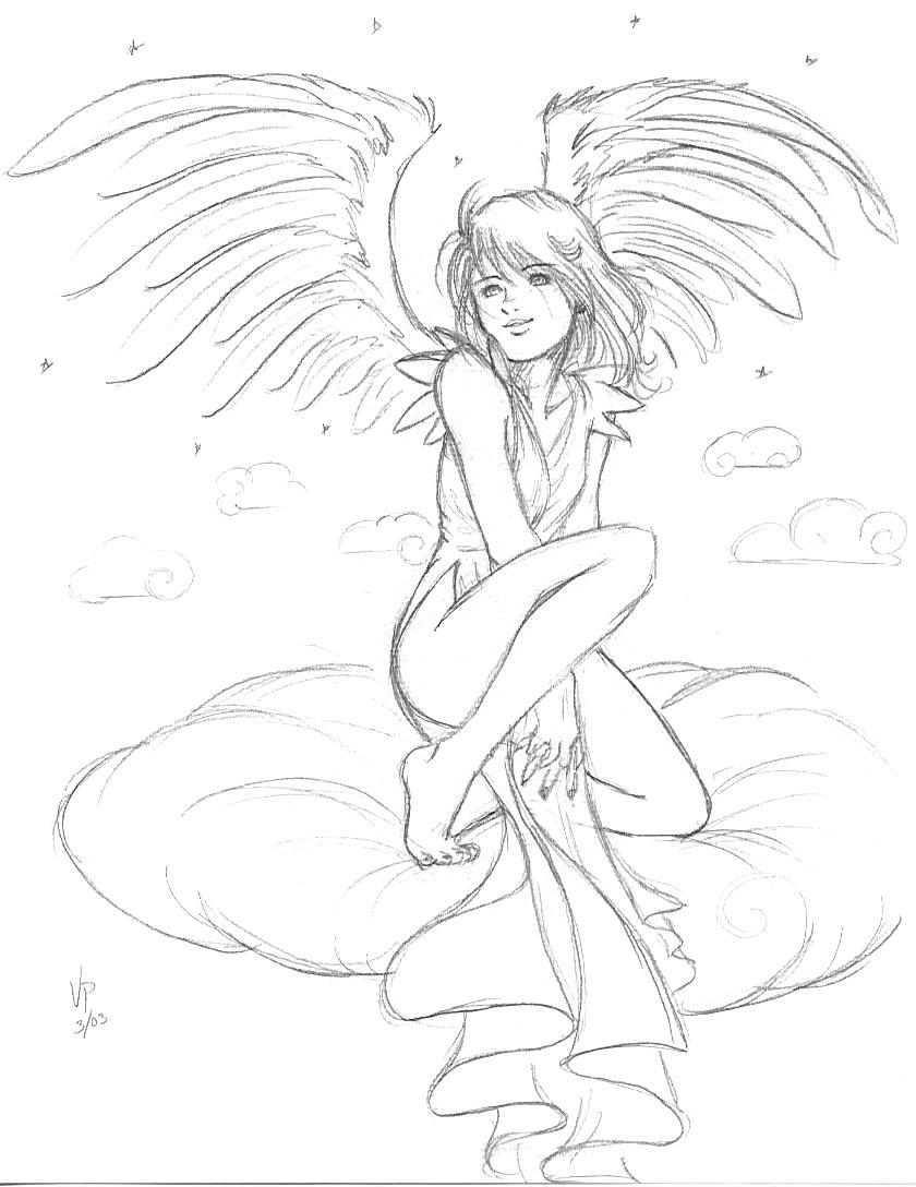 Drawn angel happy #8
