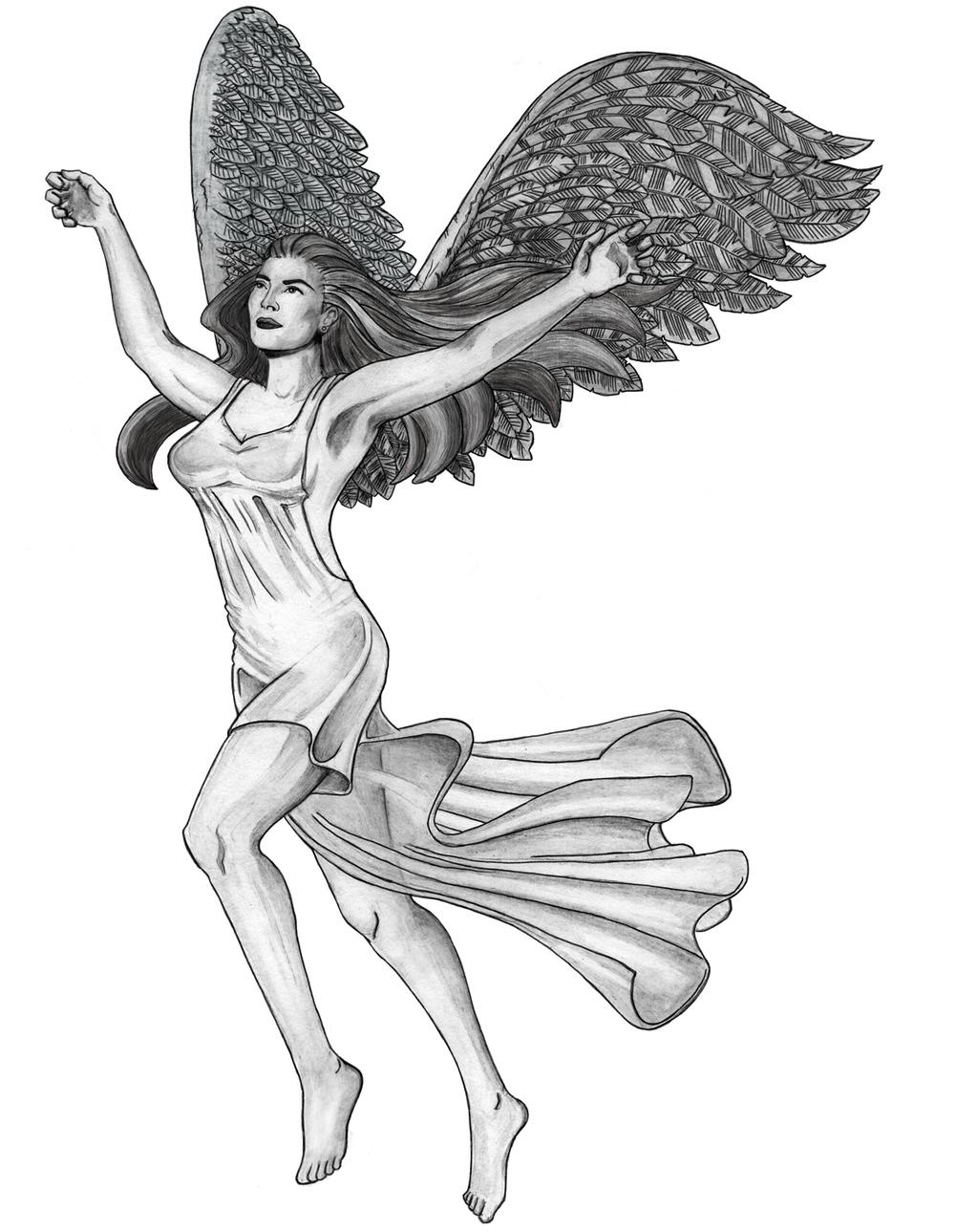 Drawn angel happy #9