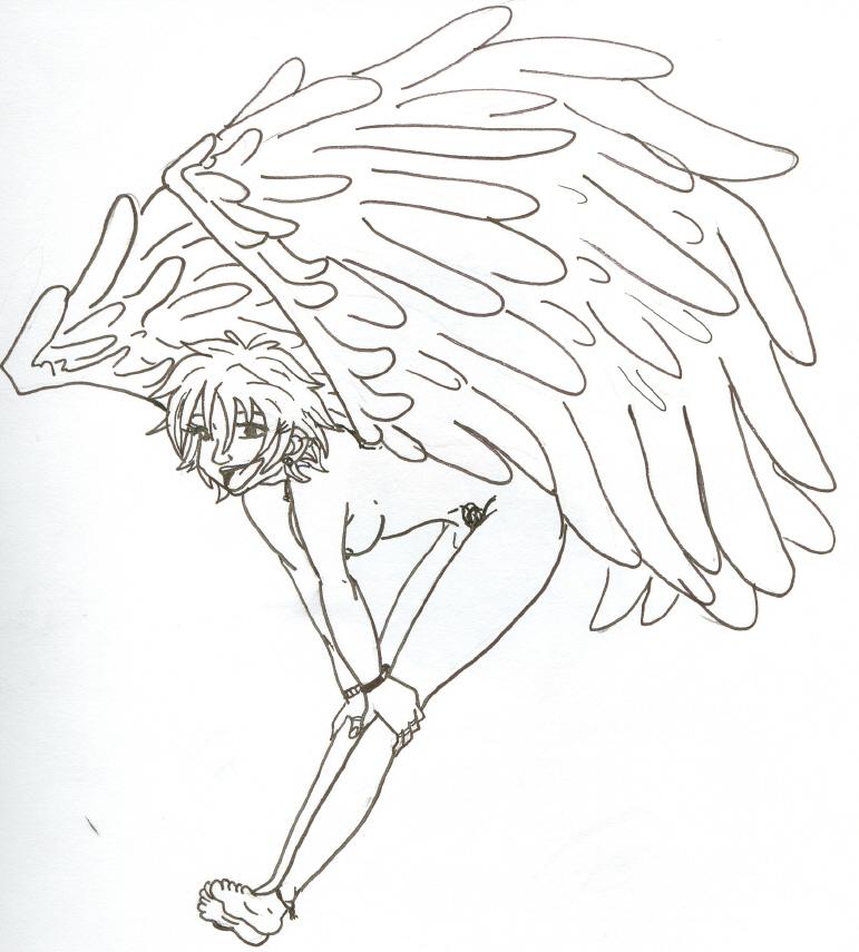 Drawn angel happy #13
