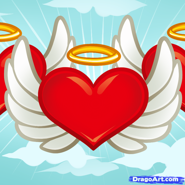 Drawn hearts angel To Culture by to how