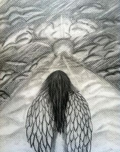 Drawn angel heaven Canvas by DrawingWoman and εικόνα