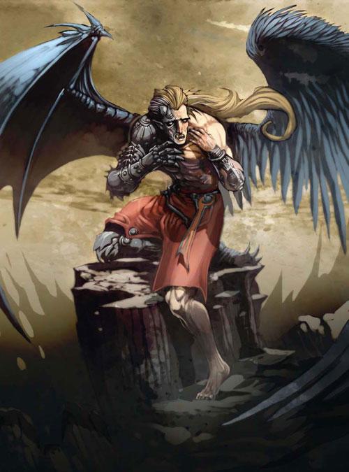 Drawn angel hugging demon Drawings: Illustrations angel_by_el_grimlock Sketches Drawings:
