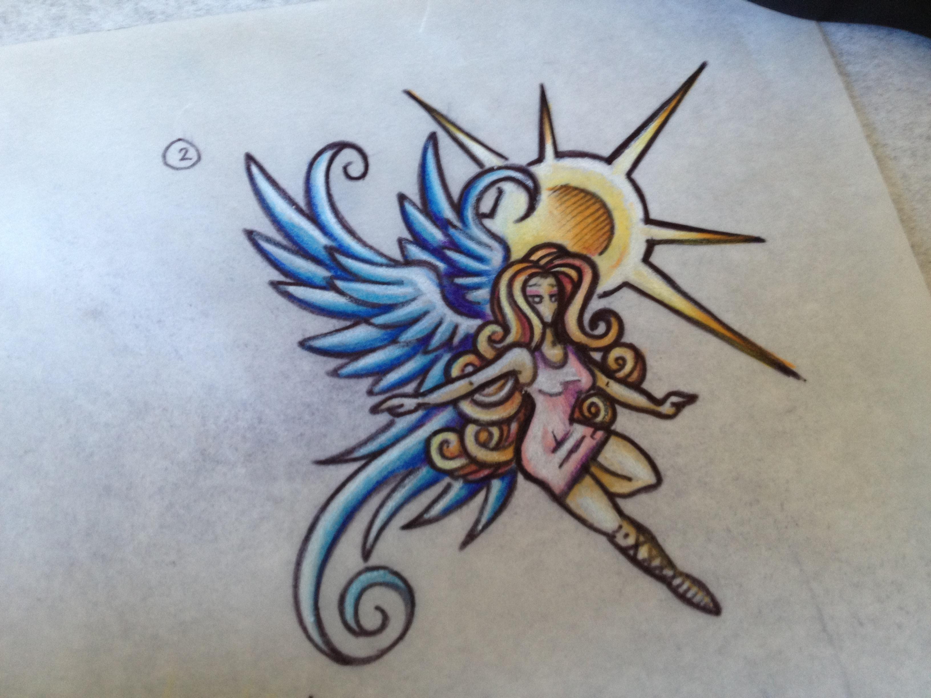 Drawn angel little angel #10