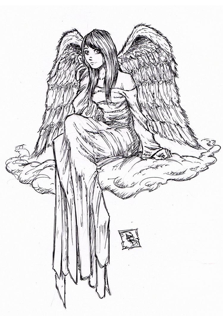 Drawn angel little angel #1
