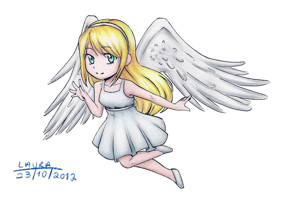 Drawn angel little angel #7