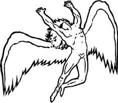 Drawn angel logo #9