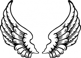 Drawn angel outline drawing Outline small drawing eagle white