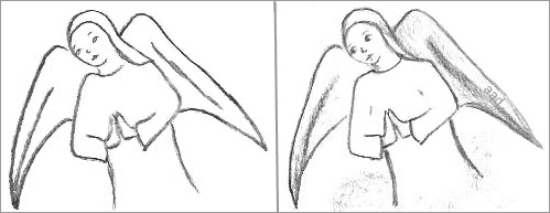 Drawn angel outline drawing You yourself to When draw