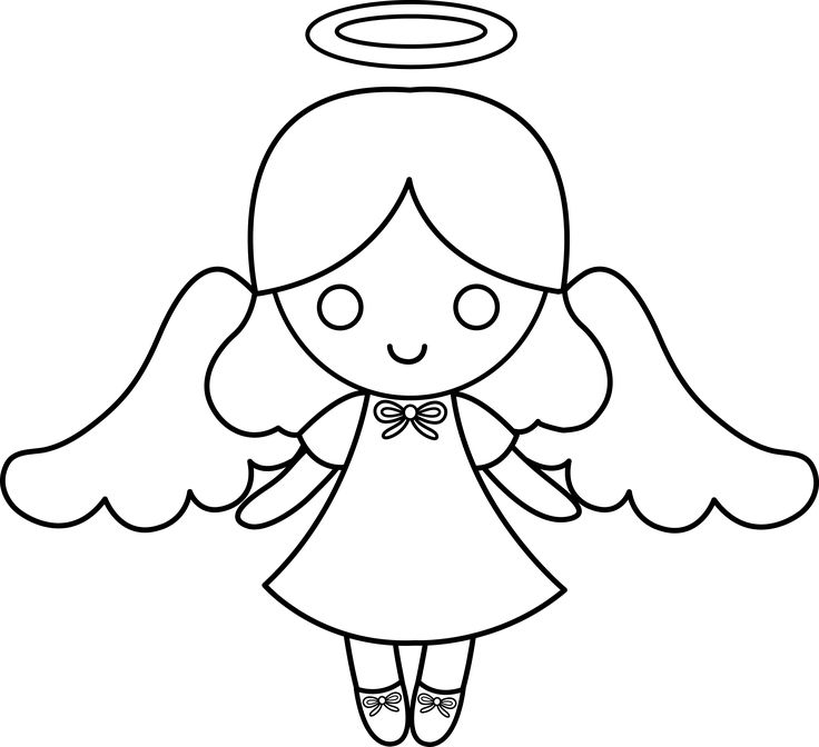 Drawn angel outline drawing Collection Cute 37KB 736x672 Drawings