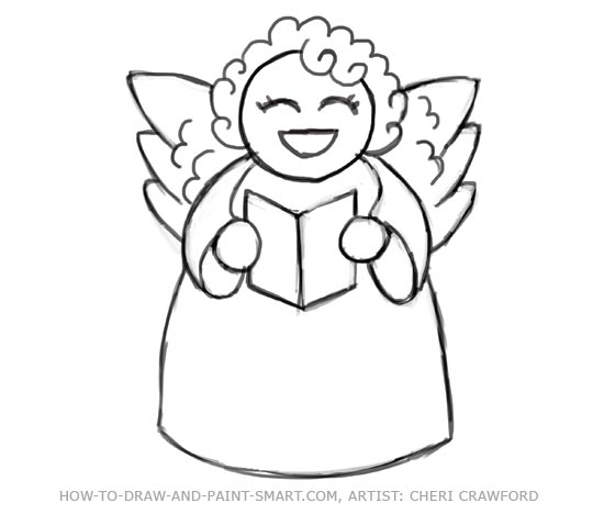Drawn angel outline drawing Your Angel crayons colored Body