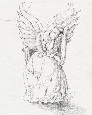 Drawn spirit guardian Sketches Guardian  Drawings Pencil