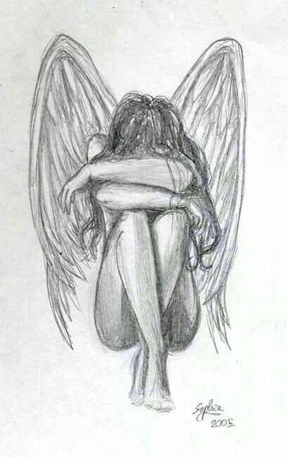Drawn sad demon Really this tattooed Art this