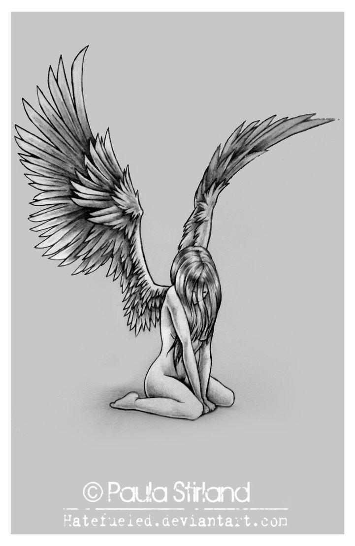 Drawn angel sadness Photoshop sleeve inspiration angel ~