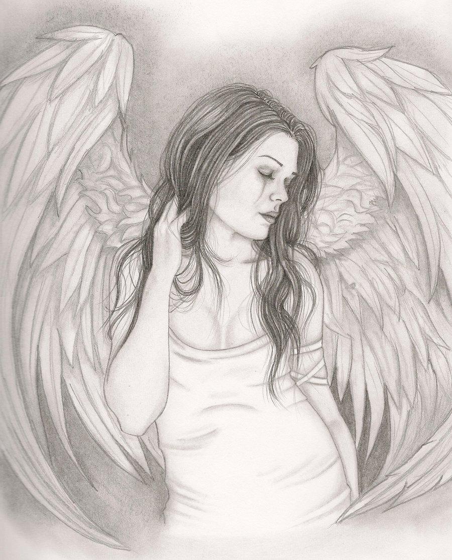 Drawn angel sadness By Ang3lManson Sad DeviantArt by