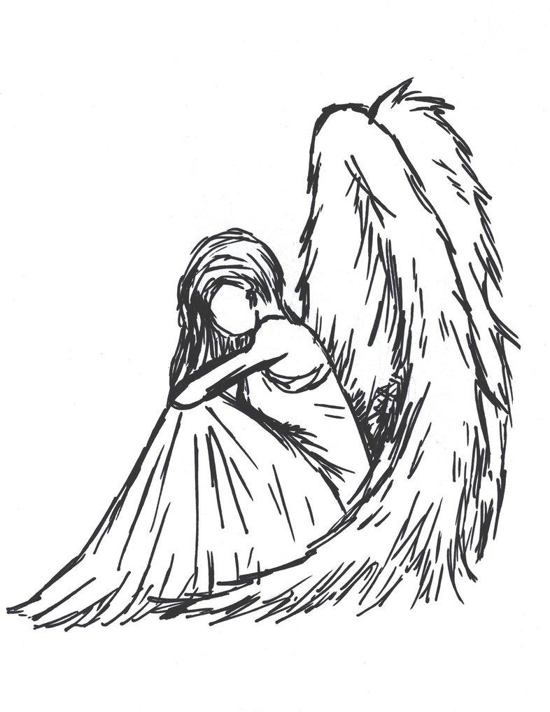 Drawn angel sadness Sketch tumblr Google fragile