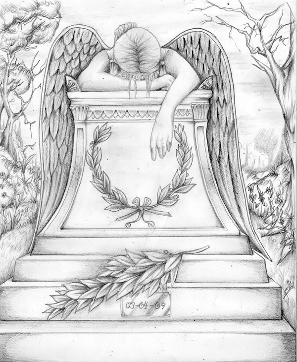 Drawn angel sadness In The by me images