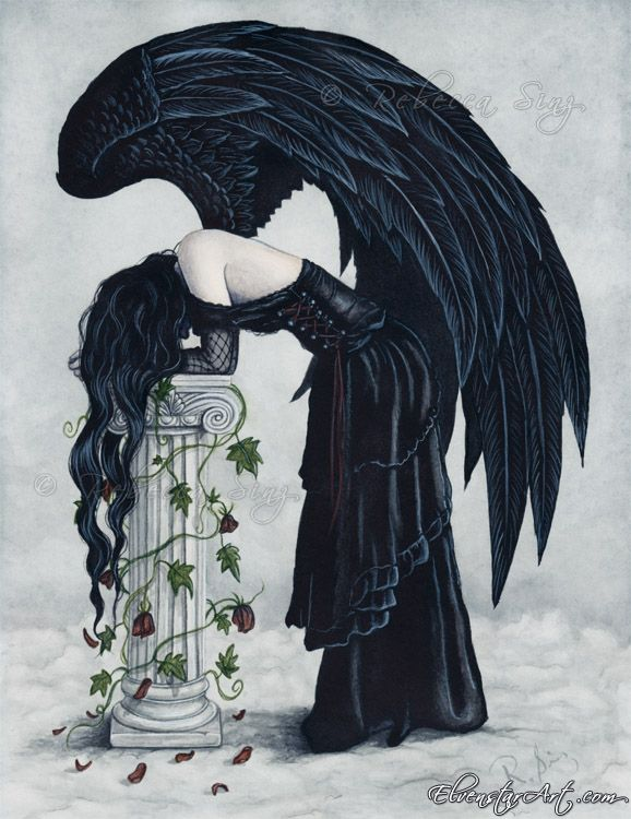 Drawn angel sadness Best and more Demons Pinterest