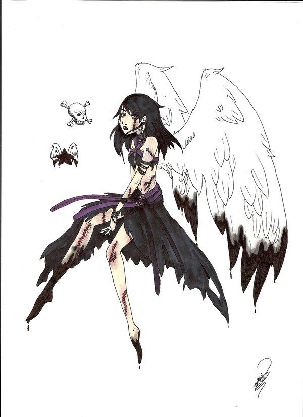 Drawn angel sadness On by Tania666 Angel Sad