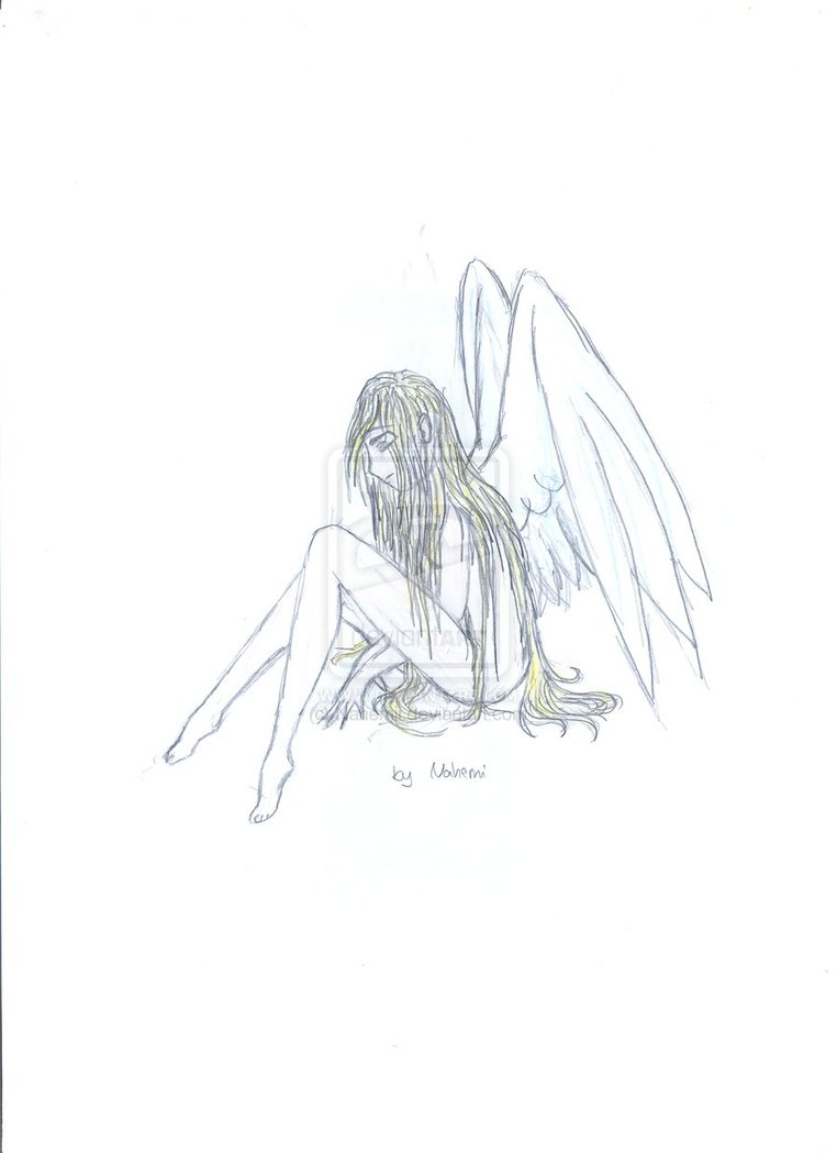 Drawn angel sadness Angel Deviantart Sad Angel Nahemii