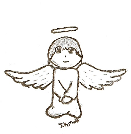 Drawn angel simple Jkmatt DeviantArt Simple Angel on