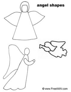 Drawn angel simple Decorations HERE Yard simple drawing