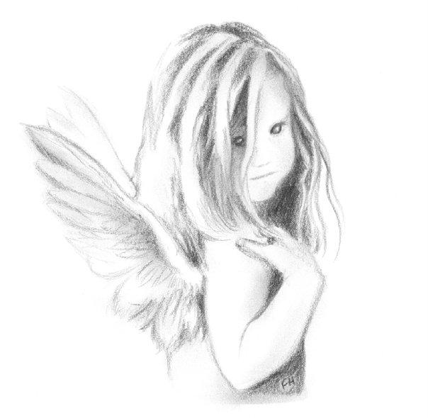 Drawn angel sketched Farooky angel farooky WINGS sketch