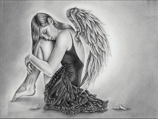 Drawn angel sketched 50 Angel Pencil Drawings Drawings