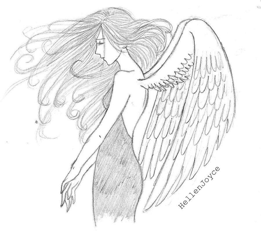 Drawn angel sketched Sketches Dark Downloads Pinterest