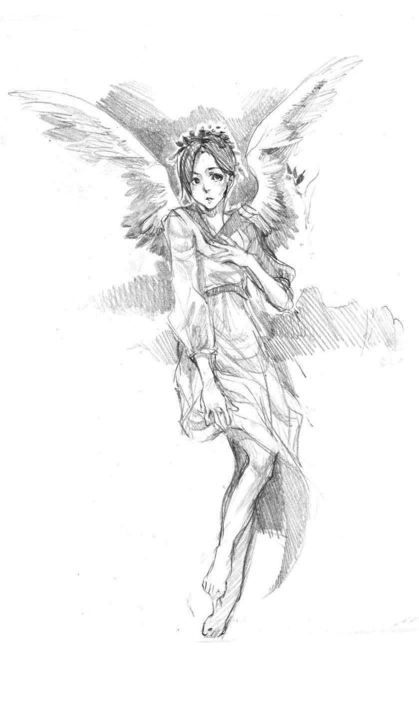 Drawn angel sketched Angel sketch angel Razuri 15