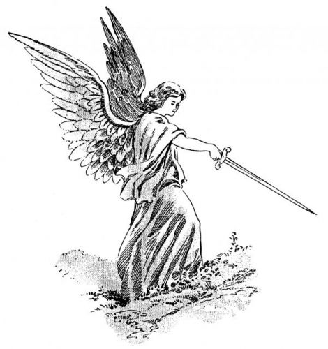 Drawn angel sword drawing #14