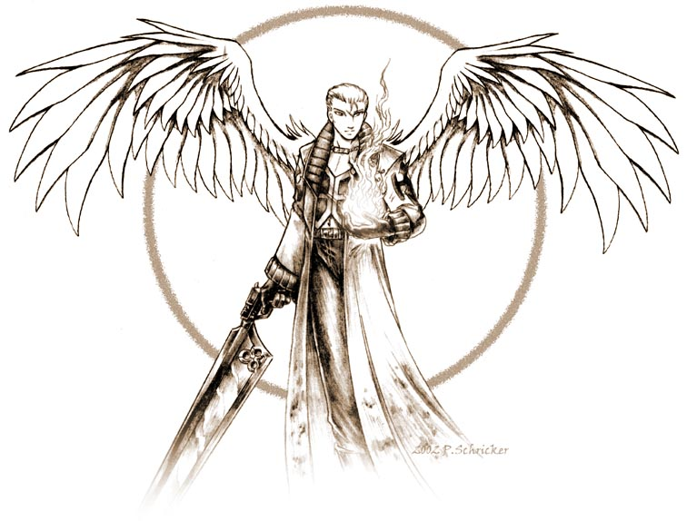 Drawn angel sword drawing #5