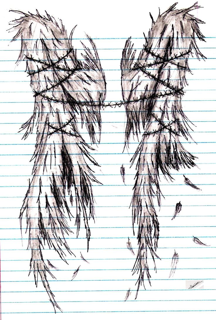 Drawn angel torn wing #7