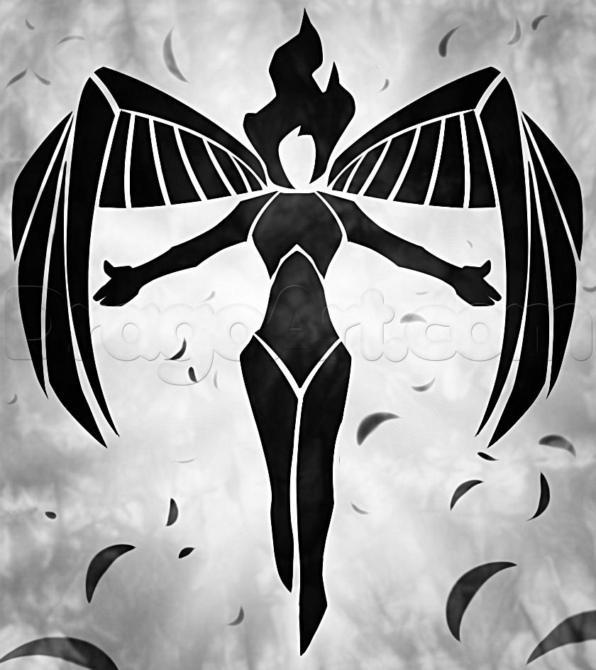Drawn graffiti angel #14