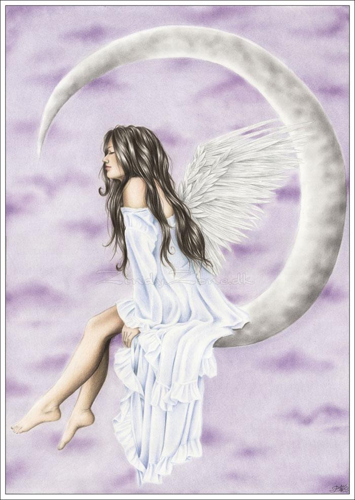 Drawn angel zone Zone Moon Zindy Moon Angel