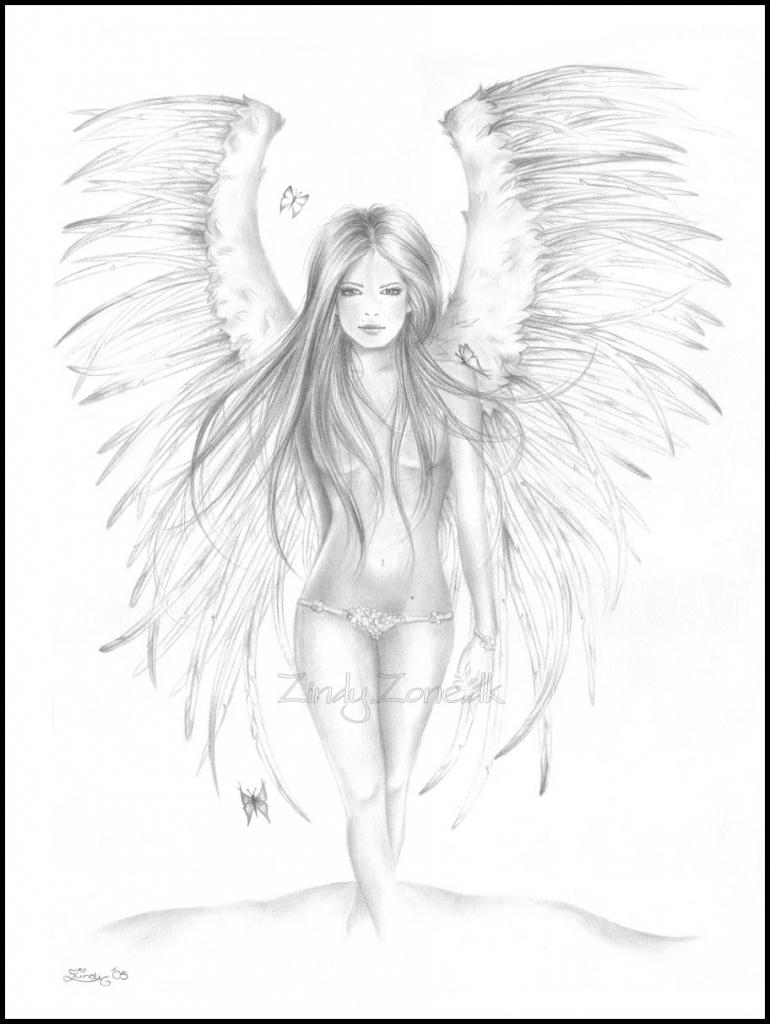 Drawn angel zone Emotional Drawings In Angel Fantasy