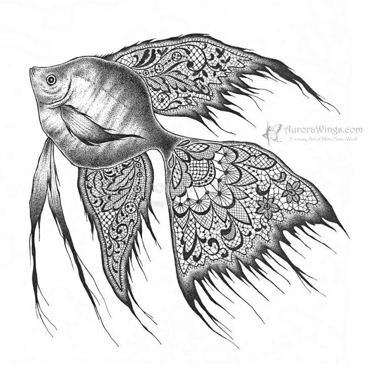 Drawn angelfish Black+Lace+Angelfish+by+aruarian Angel (Acará Pinterest 23