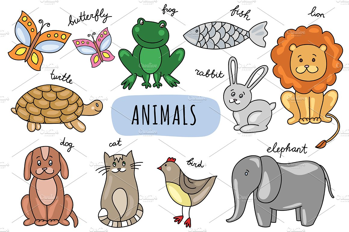 Drawn animl Hand Vector Graphics  Market