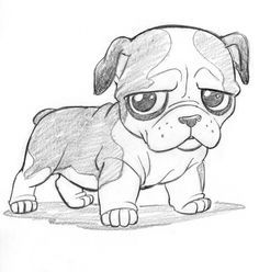 Drawn bulldog easy @DeviantArt Shepard Cute animales com