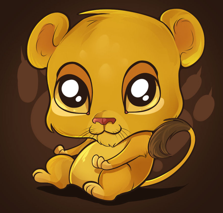 Drawn puppy big eye Cute by Big Cartoon Lion
