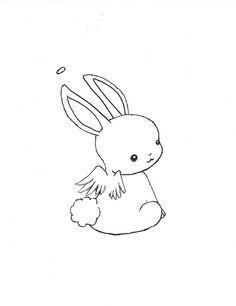 Drawn rabbit sweet bunny Chibi Google Kawaii on animal
